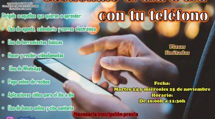 Valdemorillo organiza un curso para que los mayores saquen mayor partido a sus teléfonos móviles