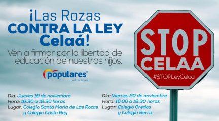 El PP de Las Rozas se moviliza contra la Ley Celaá en defensa de la concertada, la educación especial y el español