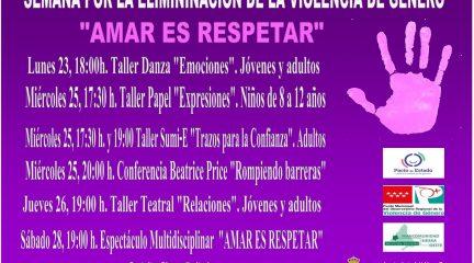 Valdemorillo presenta su programa de actividades para la Semana contra la Violencia de Género
