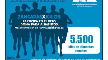 Más de 5.500 kilos de alimentos donados gracias a la prueba solidaria anual de ADC Hoyo