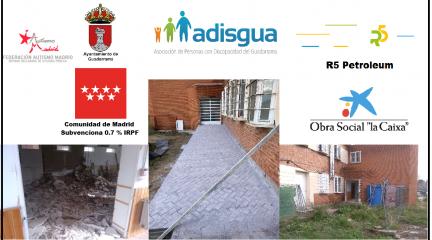 En marcha las obras de la ampliación de la sede de ADISGUA en Guadarrama