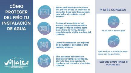 Alpedrete, Collado Villalba, Moralzarzal, Guadarrama y Galapagar, entre los municipios con más incidencias en el suministro de agua tras la nevada