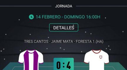 El Cerceda logra su primer triunfo con una goleada en Tres Cantos (0-4)