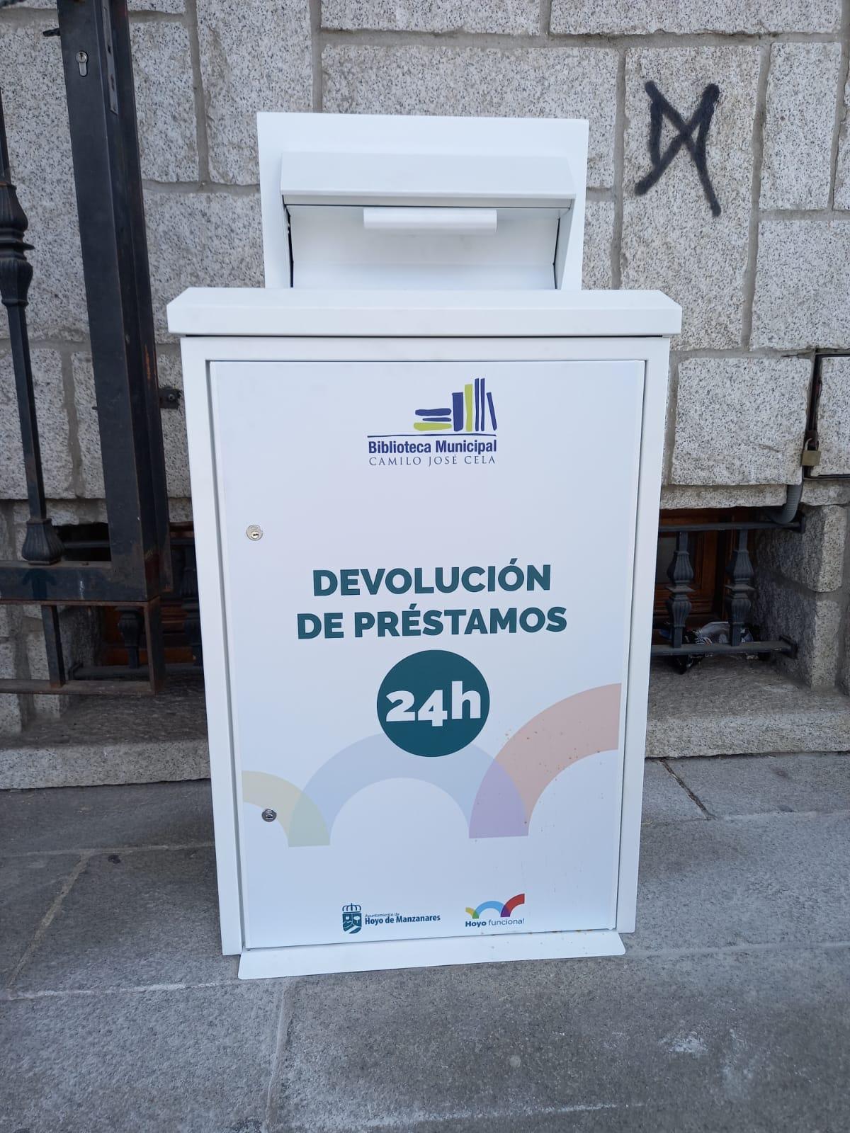 La Biblioteca De Hoyo De Manzanares Instala Un Buzón Para Permitir La Devolución De Libros 24 Horas