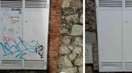 El Ayuntamiento de Hoyo de Manzanares contrata un nuevo servicio de limpieza de pintadas vandálicas en espacios públicos