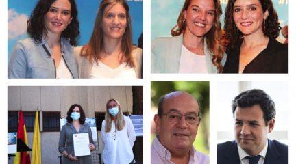 Carla Greciano, Mariola Vargas, Carlota López Esteban, José de la Uz y Antonio Vicente, en la lista del PP para las elecciones en Madrid