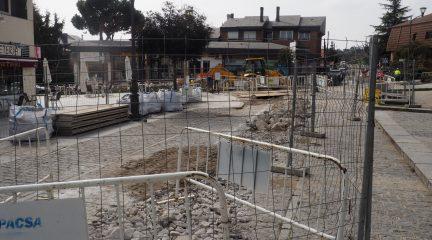 Finalizadas las obras de saneamiento en el entorno de la plaza de la Iglesia de Torrelodones