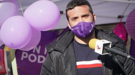 """Jesús Santos, coordinador de Podemos en la Comunidad: """"Gracias a que Pablo Iglesias ha bajado a Madrid, hay partido"""""""