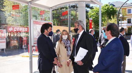 La Comunidad de Madrid y el Ayuntamiento de San Lorenzo mejoran la accesibilidad de 25 paradas de autobús