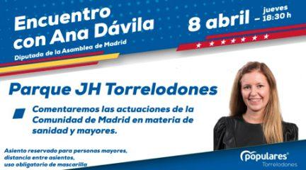 Encuentro de la diputada autonómica del PP Ana Dávila con los mayores de Torrelodones