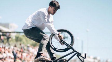 Varo Hernández, referente del BMX Flatland español, entrenará en el velódromo de Galapagar