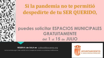 El Ayuntamiento de El Boalo cede espacios municipales para homenajear a familiares fallecidos por la pandemia
