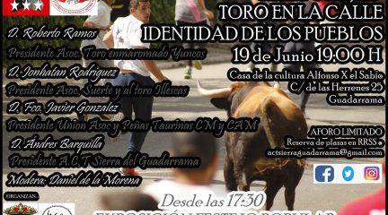 """""""El toro en la calle, identidad de los pueblos"""", nueva charla de la Asociación Cultural Taurina Sierra de Guadarrama"""