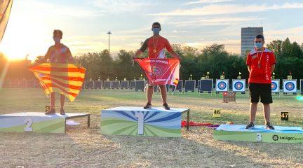 Miguel Rubio, del Club de Arqueros Villa de Valdemorillo, campeón de España en categoría cadete