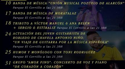 """Robledo de Chavela presenta la programación de su """"Verano Cultural"""""""