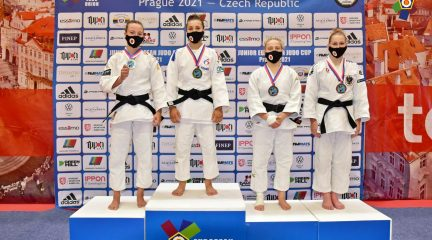 Marta García, del Club de Judo Fontenebro, plata en la European Cup Junior de Praga