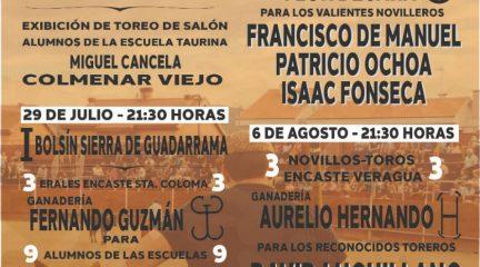 Los festejos taurinos vuelven a El Boalo, Cerceda y Mataelpino con cinco espectáculos del 28 de julio al 6 de agosto