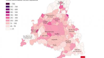 Collado Villalba, Galapagar, Alpedrete y Hoyo registran las mayores subidas en la tasa de incidencia