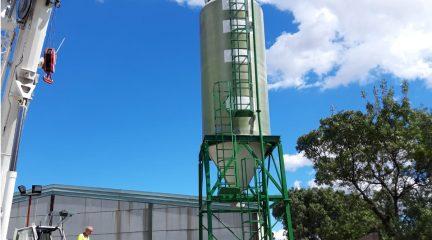 Guadarrama refuerza los medios ante las inclemencias invernales con un nuevo silo para la sal en el polígono La Mata