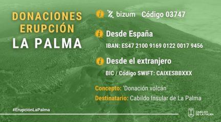 El Ayuntamiento de Robledo dona 1.500 euros a los afectados por el volcán de La Palma