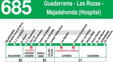 La línea 685 entre Guadarrama y Majadahonda amplía su servicio a los fines de semana y festivos