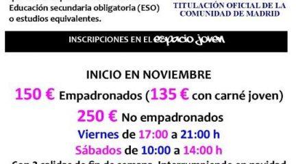 Nuevo curso de monitor de ocio y tiempo libre en El Escorial