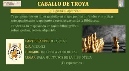 Un club de ajedrez y un taller de creación literaria, novedades en la Biblioteca de Valdemorillo