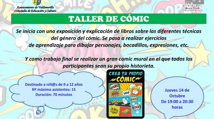 Este jueves, talleres de cómic y kawaii en la Biblioteca de Valdemorillo