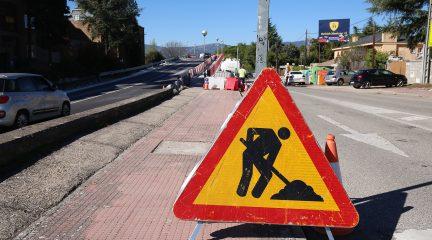 Se reforma el puente de la M-619 a la altura de Mataespesa mientras Alpedrete espera que se inicien las obras de la pasarela peatonal de la estación de tren