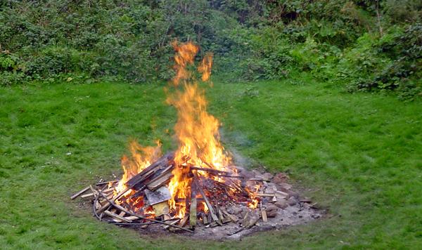 quema restos vegetales