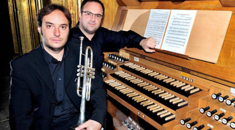 Pedro Alberto Sanchez y Marcos Quesada - concierto de órgano en el Monasterio